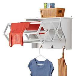 Collections Etc Accordion Expandable Wall Mounted Laundry Dr