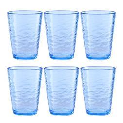 Premium Acrylic Drinking Glass, Set of 6, 16.6 oz, BPA-Free,