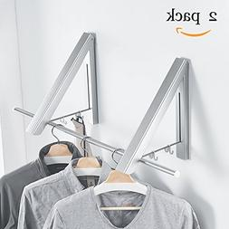 BESy Folding Clothes Hanger Adjustable Drying Rack Retractab