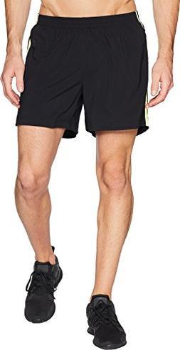 "adidas Men's Response 5"" Shorts Black/Semi Frozen Yellow Med"