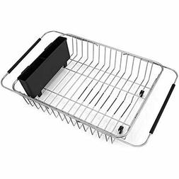iPEGTOP Expandable Dish Drying Rack, Over the Sink, In Sink