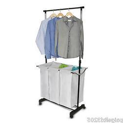 HOMZ Adjustable Laundry Center, Black, 3 Load Capacity