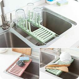 LexBu Adjustable Over the Sink Multipurpose Roll-Up Dish Dry