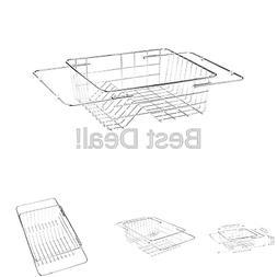 KES Adjustable In Sink Drying Rack Over Sink Dish Drainer SU