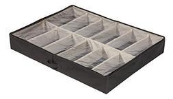 STORAGE MANIAC XL Adjustable 12-Pair Under Bed Shoe Organize