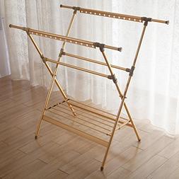 Aluminum alloy drying rack,Floor folding indoor x-shape tele