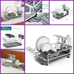 Aluminum Dish Drying Rack with Expandable Over Sink Dish Rac