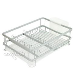 Aluminum Frame Dish Drainer Drying Rack Washing Organizer Co