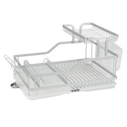 Aluminum Dish Drying Rack Kitchen Counter Top Tier Utensil H