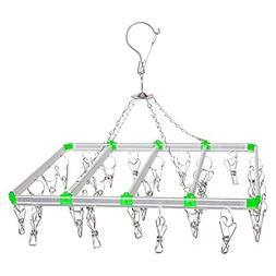 Aluminum Racks Windbreak Folding Hanger Outdoor Drying Rack-