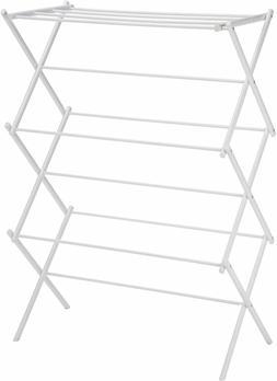 Amazon Basics Foldable Clothes Drying Laundry Rack - White