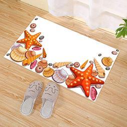 JANNINSE Animated Style Marine Five-Pointed Star Orange Star