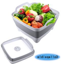 Kitchen Collapsible Dish Tub Drainer Large Washing Basin Foo