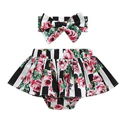 GoodLock Baby Girls Fashion Clothes Summer Lovely Striped Fl