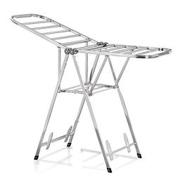 Balcony drying rack/floor folding/stainless steel/airfoil/in