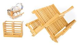 ADORN HOME BAMBOO CUTLERY, PLATE & UTENSIL DRYING DISH RACK,