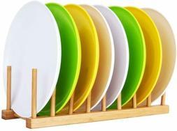 Bamboo Dish Drying Rack Utensil Plate Drainer Storage Holder