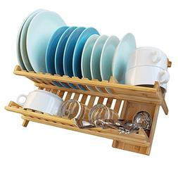 bamboo dish rack drying