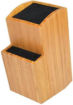 Bamboo Universal Knife Block - Extra Large Two-tiered Slotle