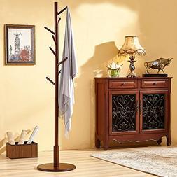 Bamboo wooden clothes rack,Coat rack bedroom hanger nordic s