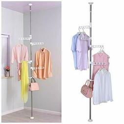 Standing Clothes Laundry Drying Rack Coat Hanger Organizer 4