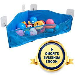 Bath Toy Organizer - NEW 4 Strong Adhesive Hooks - Bathtub T