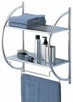 Bathroom Hand Towel Rack Drying Above Toilet shelf Storage O