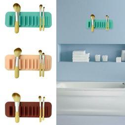 Beauty Silicone Rack Storage Desk Makeup Drying Brush Holder