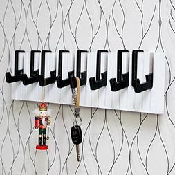 SHANGXIAN Bedroom Hooks Piano Keys Clothes Rack Wall Hanging
