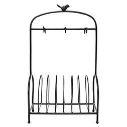 Bird Cage Shape Dish Drying Rack 8 Plates Holder Display Sta