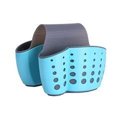 Sink Caddy Sponge Holder Soap Holder, Eunion Blue Saddle Fau