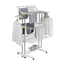 Newerlives BR505 3-tier Collapsible Clothes Drying Rack with