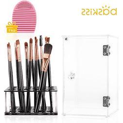 Baskiss Makeup Brush Holder, 24 Slots, Clear Acrylic Makeup