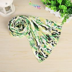 Camouflage Design Light Green Cooling Towel 3 Pack, Cool Tow