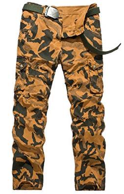 Abetteric Mens Camouflage Straight Combat Multi-Pockets Penc