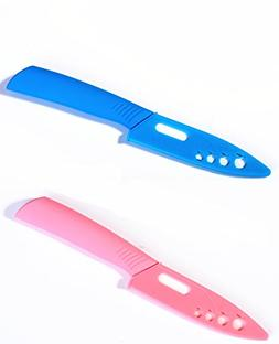 Casualux Ceramic Knife,Kitchen,Chef Knife with Sheath cover.