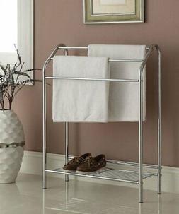 eHomeProducts Chrome Finish Towel Bathroom Rack Stand Shelf