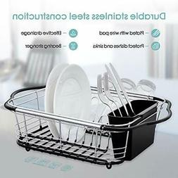 BonusAll Chrome-plated Steel Dish Drainer Expandable Dish Dr