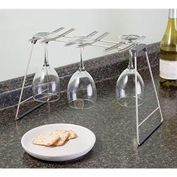 InterDesign Classico Free Standing Wine Glass Drying Rack fo