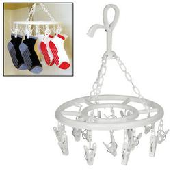 Evelots Clip And Drip Clothes/Laundry Drying Hanger With 16