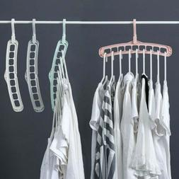 Closet Organizer 9 Hole Clothes Hanger Drying Rack Storage R