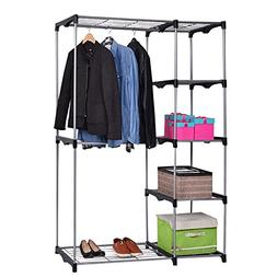 totoshop Closet Organizer Storage Rack Portable Wardrobe Gar