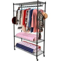Closet System Storage Organizer Garment Rack Home Clothes Ha