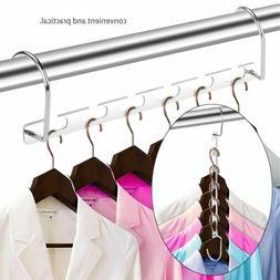 Cloth Metal Closet Hanger Storage Organizer Clothes Drying R