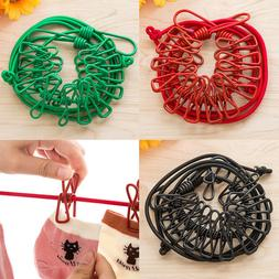 Clothes Drying Laundry Hangers Portable Rack Clips Clothesli