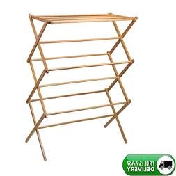 Clothes Drying Lightweight Rack Bamboo Wooden Super Quality