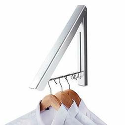Clothes Drying Rack Aluminium Coat Wall Mounted Hanging On B
