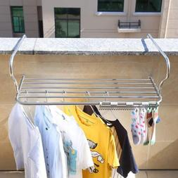 Clothes Drying Rack Foldable Hanging Storage Organizer Outdo