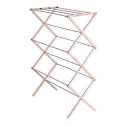 5001 collapsible folding wooden clothes drying rack