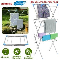 Clothes Drying Rack Laundry Stand Folding Hanger Indoor Drye